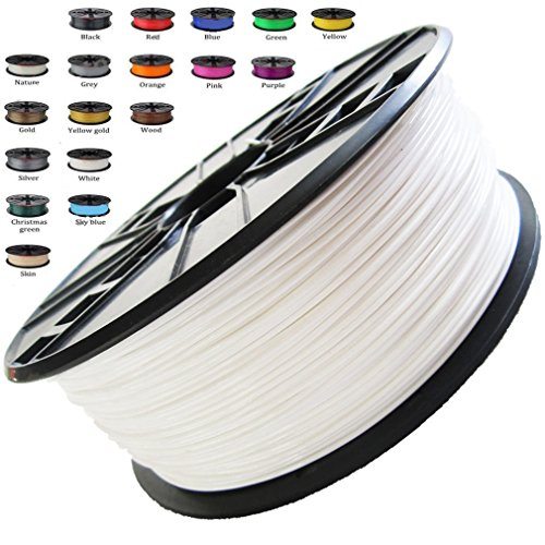Melca 1.75 3D Printer Filament PLA 1kg +/- 0.03mm, White 1.75mm (#F4F4F4) - New