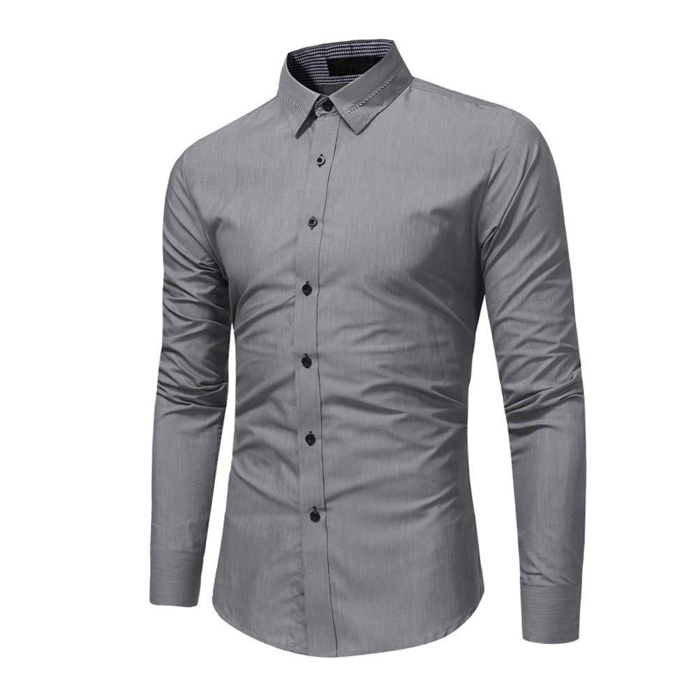 BaZhaHei, Ropa de Hombre, Camisa de Vestir de Manga Larga de Corte Recto sólido Formal Ocasional del otoño Camisetas de Hombre de los Hombres de la Blusa ...