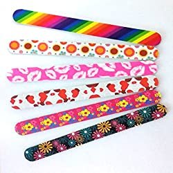 New8Beauty Nail Files Emery Board (12-Pack) - Nail Spa Party Favors Supplies - Best Stocking Stuffers Gift for Girls Women Kids Mom Girlfriend - Manicure Pedicure