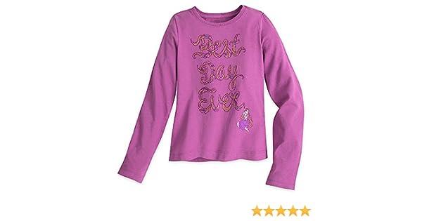 "Disney Store Tangled Rapunzel /""Best Day Ever/"" Long Sleeve T Shirt Size 2//3"
