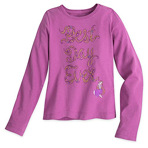 Disney Rapunzel Long Sleeve Tee for Girls Size XS (4) Pink