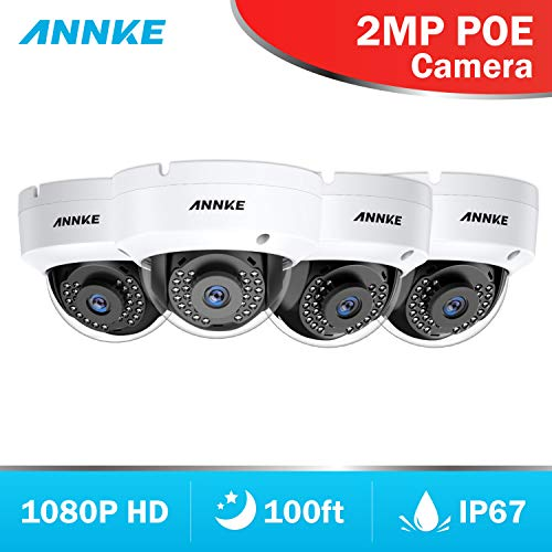 ([Professional 1080P] ANNKE 4-Packed 2.0 Mega Pixels (1920x1080) IP Cameras CCTV System,1/2.8