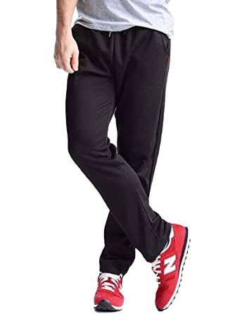 4378f5ef070fb3 MUST WAY Men s Athletic Running Joggers Sweatpants Active Basic Sports  Training Pants 568A Black M