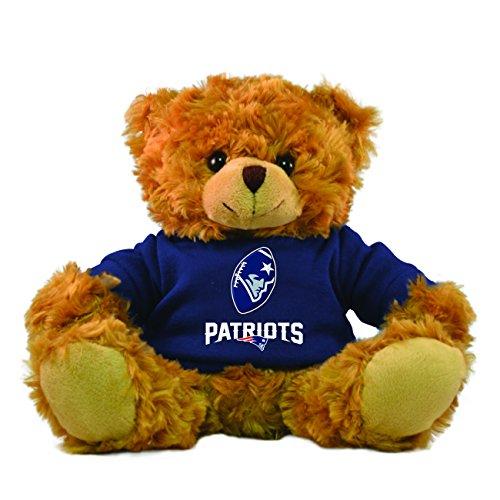 Gulf Coast Sales NFL New England Patriots Hoodie Bear, Brown, 9-inch