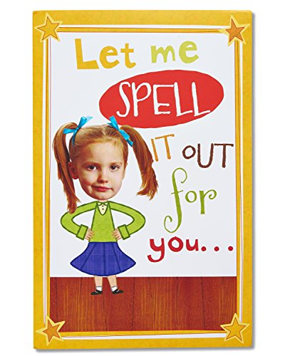 American Greetings Funny Spelling Bee Birthday Card with Audio