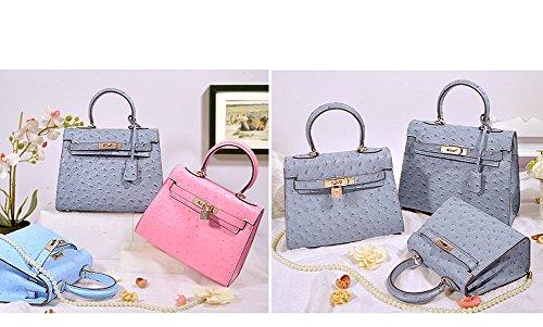 76c9bc5ad1c5 Ainifeel Women s Ostrich Embossed Leather Should Handbag Hobo Bag  (25cm-mini