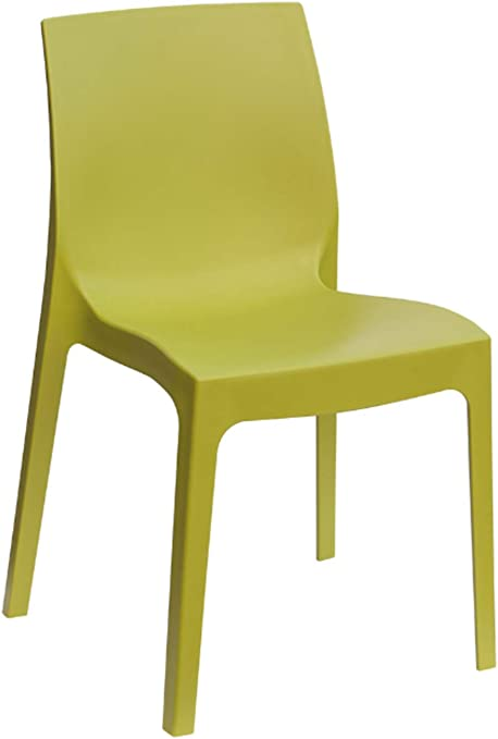 Amazon Com Igap Rome Stackable Patio Dining Chair Anise Green 2 Piece Set Heavy Duty Plastic Made Of Recycled Materials Euro Design Kitchen Dining