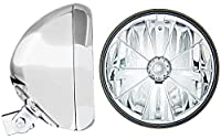 "Adjure (HB77010-7) Chrome 7"" Universal Headlight Bucket and Headlamp Combo"