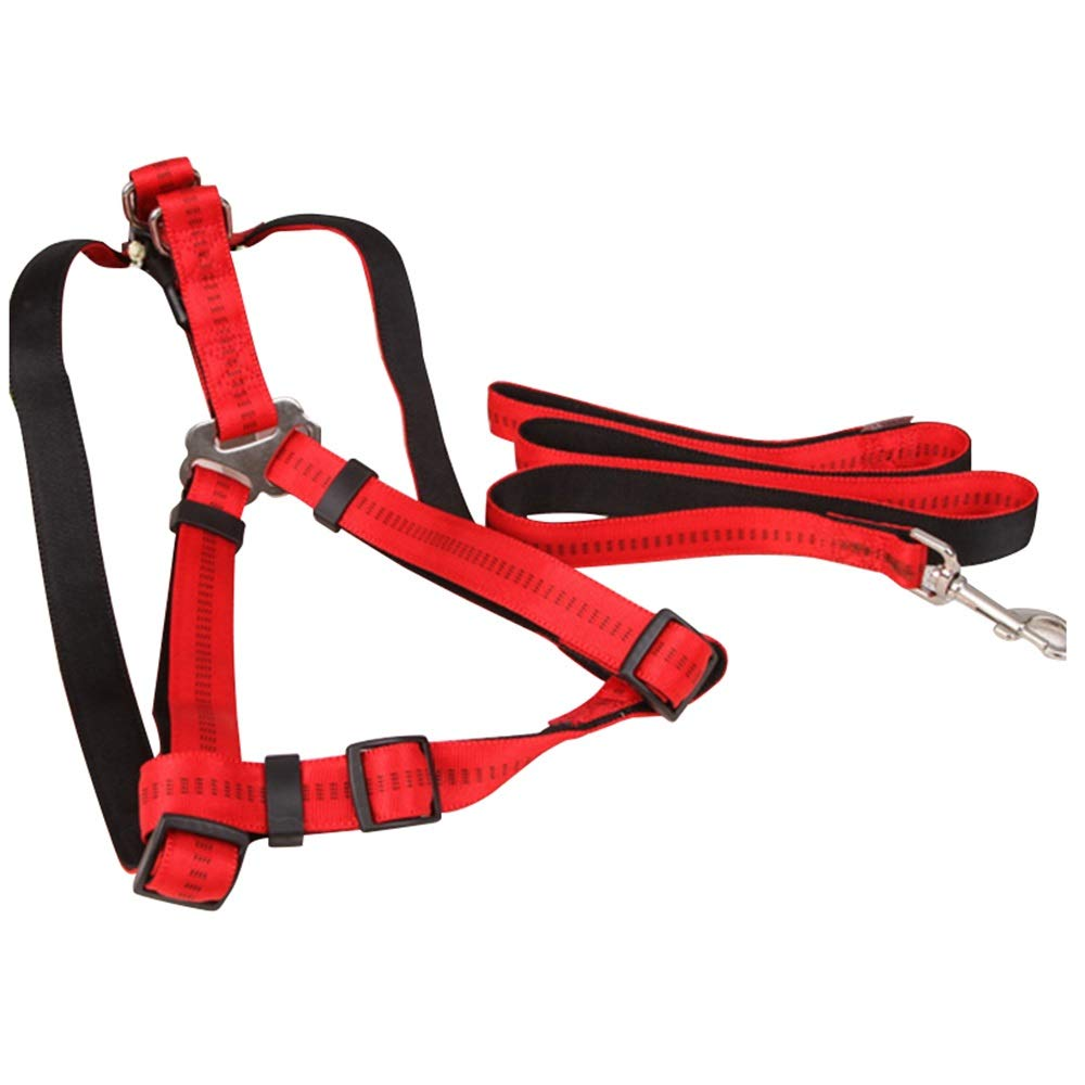 Red L Dog Leash, Medium Dog  Large Dog Chest Strap ExplosionProof Buckle Dog Leash Dog Feel Comfortable (color   Coffee colorL)