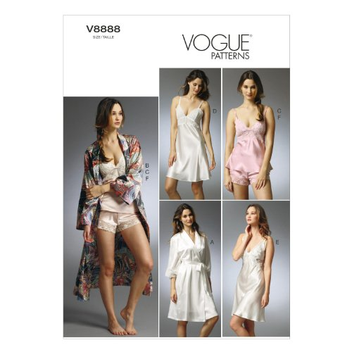 VOGUE PATTERNS V8888EE0 V8888 Misses  Robe Slip Camisole and Panties Sewing  Template b6c383b30