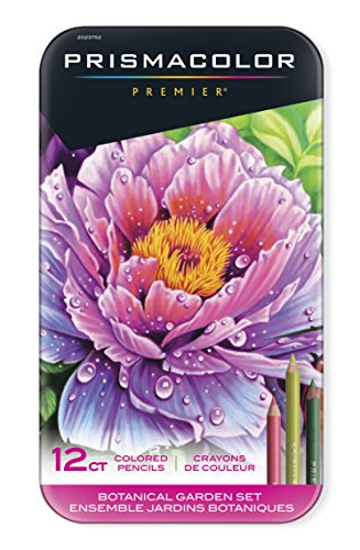 Prismacolor Premier Colored Pencils, Soft Core, Botanical Garden Set, 12 Count