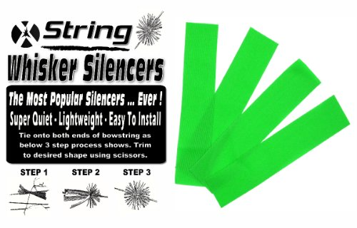 ARCHERY BOWSTRING WHISKER SILENCERS LEAF GREEN 2 PAIR ()