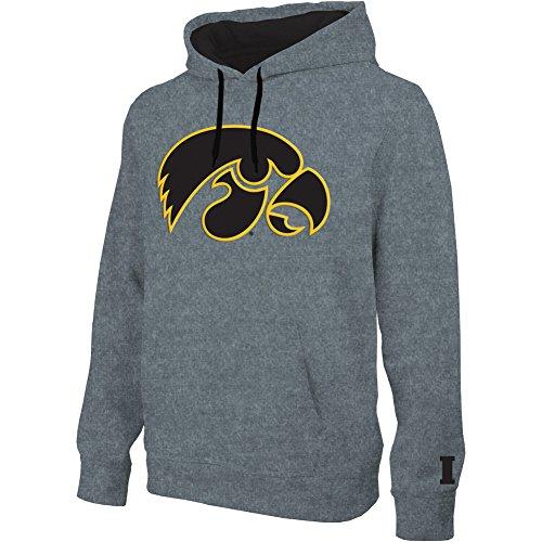 Elite Fan Shop Iowa Hawkeyes Hooded Sweatshirt Captain Gray - L (Hoodie Hawkeyes Iowa)