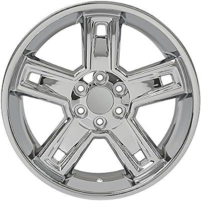 Amazon Com Chrome Wheel 22x9 5 Silverado Deep Dish Style For 1999