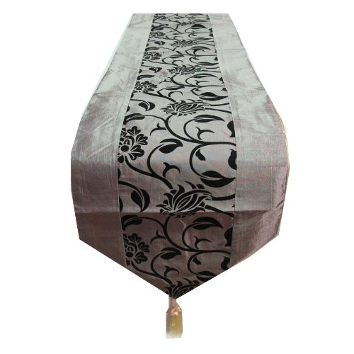 BEAUTIFUL & COOL!! (TABLE / BED RUNNER) RAISED LEAF PATTERN ON YOUR BED SIZE WIDTH 13 INCHES LENGHT 76 INCHES (Raised Leaf Pattern)
