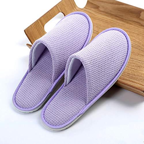 Paia 28x11cm Chiuse Spa purple Waffle 3inch Ntbst Monouso Le 50 11x4 Monouso Pantofole Ciabatte Per Donne Portatile HRxdq7d6w