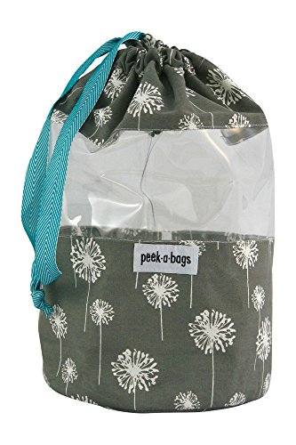 PEEK-A-BAGS Toy Storage Bag For Organizing Kid's Toys With Unique Colorful Drawstring bag. Perfect For a Gift Bag.