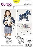 Burda Crafts Sewing Pattern 6495 Stuffed Animal Horse & Unicorn Toys