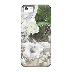 Hot New Monster Hunter Poster Stitched Rg Cases Covers For Iphone 5c With Perfect Design