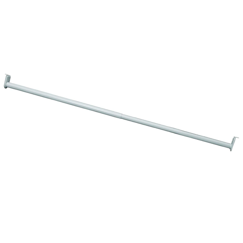 Design House Hardware 205823 Adjustable Hanging Closet Rod 30 48-Inch, White Finish