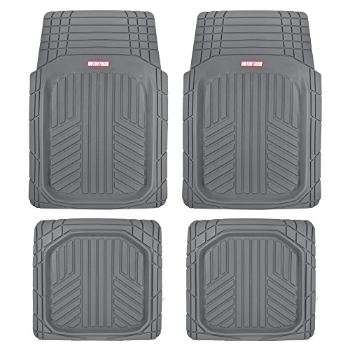 Motor Trend MT-934-GR Gray Season Deep Dish Rubber Floor Mat