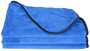 Plush Thick Microfiber Car Cleaning Cloths Car Waxing Polishing Towels Car Wash Cloths(3 Pack)16 Inch X 24 Inch 380gsm