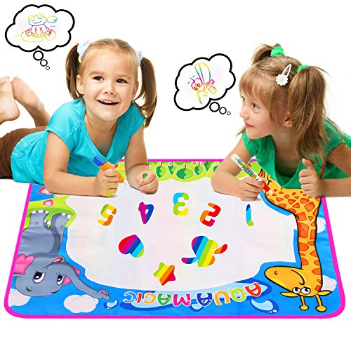 Aqua Water Doodle Drawing Mat, Children's Aqua Magic Mat Environmentally Friendly Foster Child Interest in Painting, Children's Favorite Gift, 29.5X20.4 (Drawing Mats)
