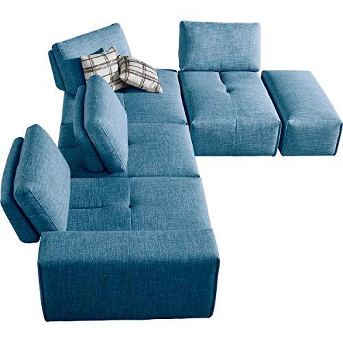 Meubletmoi MODULO - Reposabrazos de Tela, modulo para sofá ...