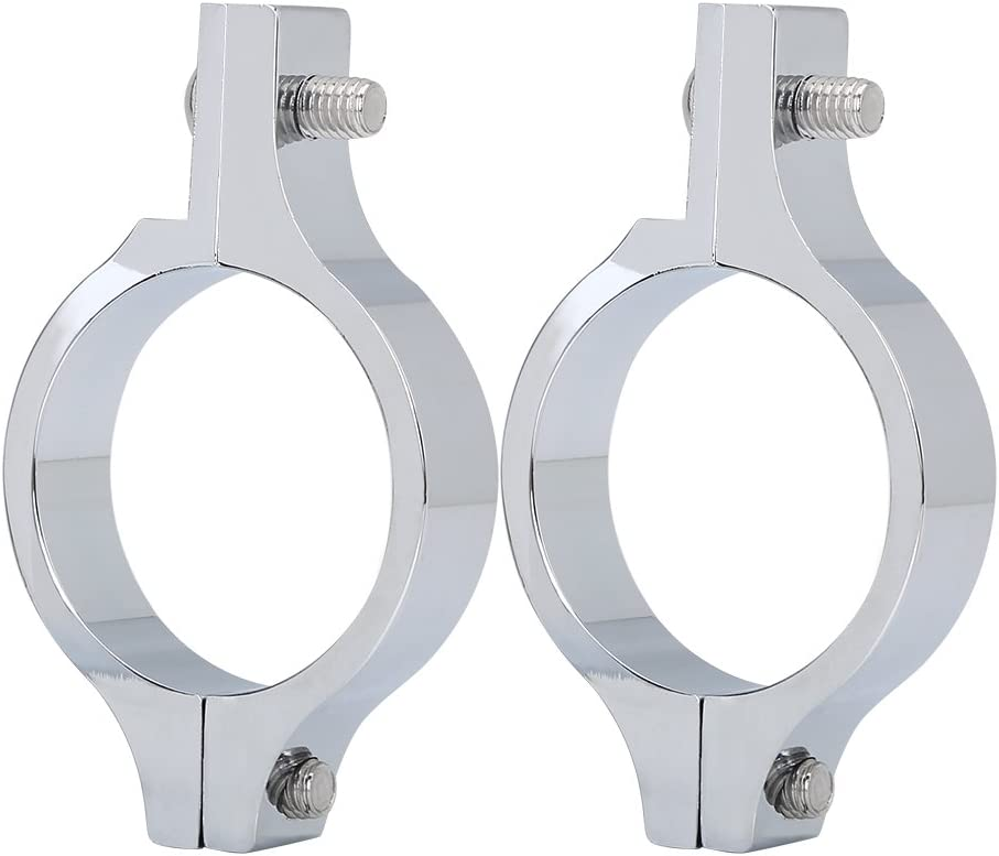 Akozon 1 Pair de Supports Phares Moto 39mm Placage