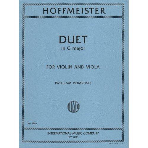 Primrose Viola (Hoffmeister, Franz Anton Duet in G Major Violin and Viola edited by William Primrose International)