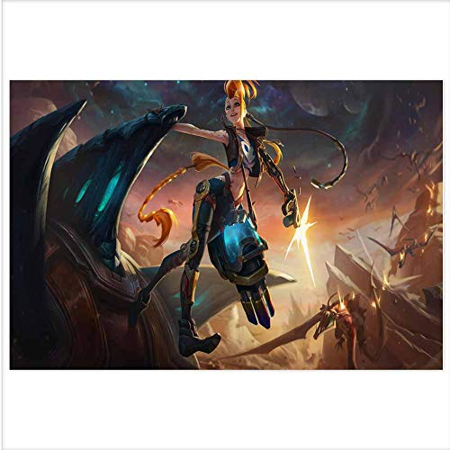Atwood Louisa League of Legends 3D Poster Wall Art Decor Print,Lenticular Posters & Pictures,Memorabilia Gifts for Guys & Girls Bedroom 18.5x14.5 Inch(odsse Jinx Splash Art LOL)