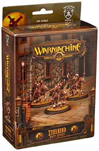 Privateer Press - Warmachine - Mercenary: Steelhead Heavy Cavalry Unit Box Model Kit 3