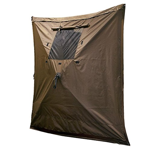 (Quick Set 9898 Wind Panels, Tear-Resistant Durable Side Panels Fire-Retardant Screened Window (3 Pack), Brown)