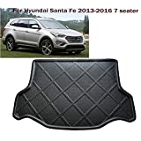 Car Boot Pad Carpet Cargo Mat Trunk Liner Tray Floor Mat Custom Fit Hyundai Santa Fe 2013-2016 7 seater