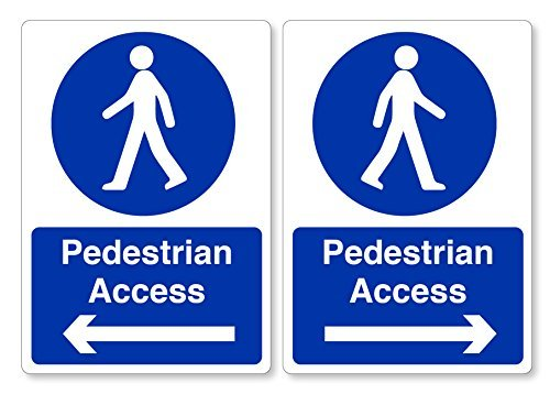 hiusan Pedestrian Access Left & Right Stickers - Workplace Health & Safety Signs Business from hiusan
