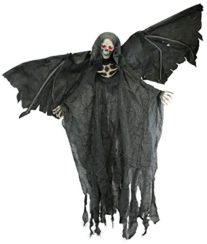 Wings Prop Reaper Flying With (Black Lighted Animated Winged Flying Reaper)