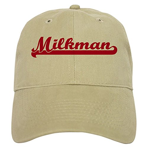 CafePress Milkman (Sporty Red) Baseball Cap with Adjustable Closure, Unique Printed Baseball Hat -