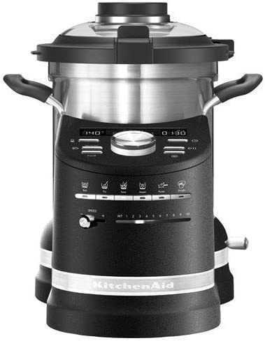 KitchenAid 5KCF0104 4,5 L Negro, Acero inoxidable 1500 W - Robots de cocina (4,5 L, 140 °C, 100 RPM, 2300 RPM, Boil, Freír, Puréeand dough, Vapor, Stew, 45 min): Amazon.es: Hogar