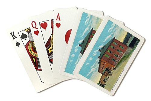 Calais, Maine - Maine Central Railroad Station Exterior (Playing Card Deck - 52 Card Poker Size with Jokers)