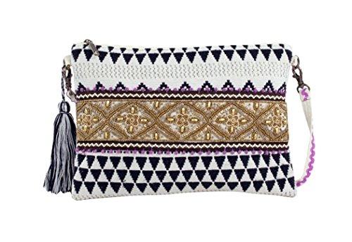 Bluebags FOR Time Fashion Qabli, Bolso de Mano para Mujer, Multicolor, Unica