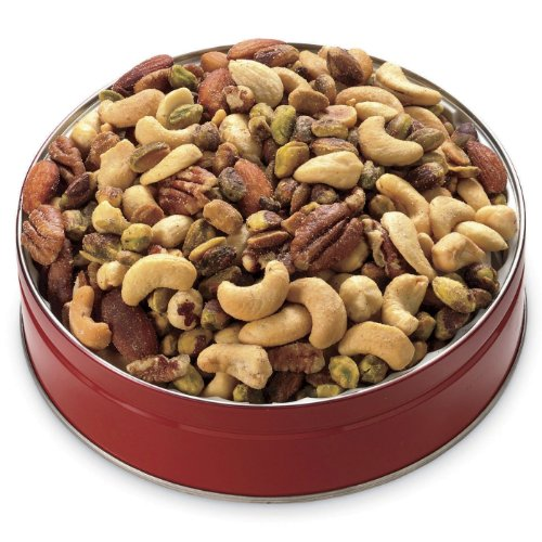 50/50 Mixed Nuts with Pistachios Gift Tin from Wisconsin Cheeseman by The Wisconsin Cheeseman