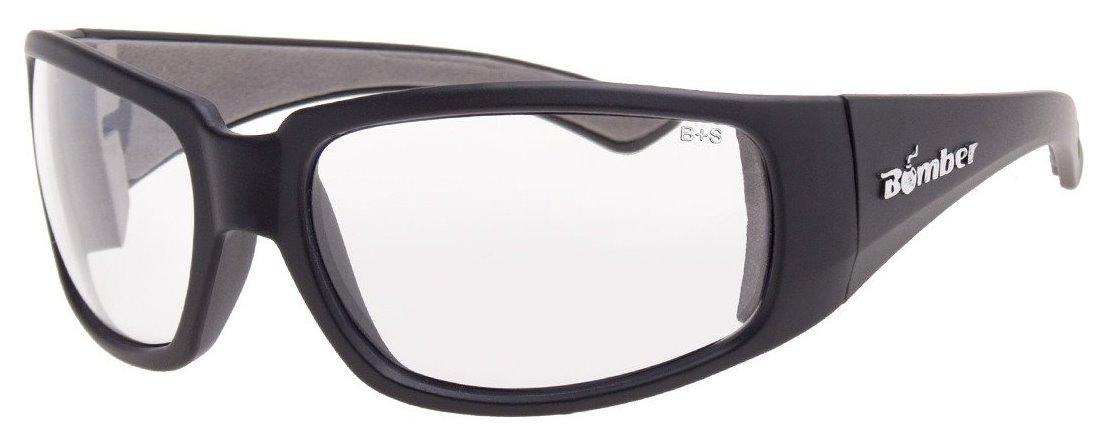 12 Pack Bomber ST101 Stink-Bomb Safety Glasses - Clear Lens, Matte Black Frames by Bomber USA