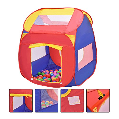 Portable Kid Baby Play House Indoor Outdoor Toy Tent Game Playhut 100 Balls from Unbranded