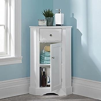 weatherby bathroom corner storage cabinet white office products. Black Bedroom Furniture Sets. Home Design Ideas