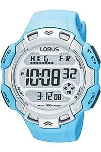 Lorus R2381DX9 - Reloj digital de cuarzo para hombre, correa de caucho color turquesa