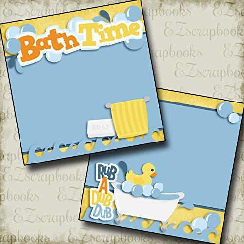 (BATHTIME NPM - Premade Scrapbook Pages - EZ Layout 2485)