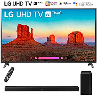 "LG 86UK6570PUB 86"" Class 4K HDR Smart LED AI UHD TV w/ThinQ (2018 Model) with Samsung HW-M360/ZA 200W 2.1ch Soundbar w/ Wireless Subwoofer"