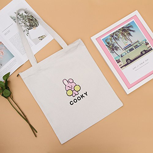 Printed H02 Shoulder Kpop 2 Bag Bag Boys Bag Tote Bangtan Canvas Yuxareen Canvas BTS Messenger xBqOROA