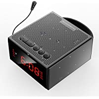Portable Wireless Bluetooth Speaker FM Radio Gift for Parents, AncordWorks 8W Waterproof/Shower/Outdoor with Alarm Clock MP3 Player Hands Free Phone Calling Mic, Micro SD TF Slot, Extern Antenna