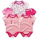 James Karon Little Angels Collection Infant Onezies (Girls Light Pinks, 6 Months)